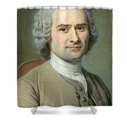 Portrait Of Jean Jacques Rousseau Shower Curtain