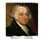 Portrait Of John Adams Shower Curtain