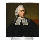 Portrait Of John Lee Attorney-general Wearing Legal Robes Shower Curtain