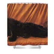Portrait Of Katie Lewis Shower Curtain