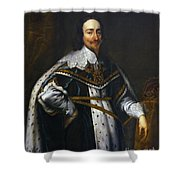 Portrait Of King Charles I After Van Dyck Shower Curtain