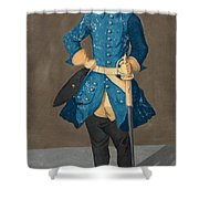 Portrait Of King Karl Xii Of Sweden Shower Curtain