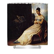 Portrait Of Laura Bro 1820 Shower Curtain