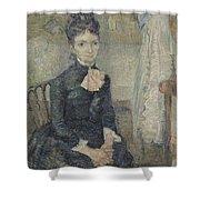 Portrait Of Leonie Rose Charbuy-davy Paris  March  April 1887 Vincent Van Gogh 1853  1890 Shower Curtain