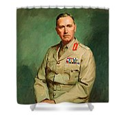 Portrait Of Lieutenant - General The Honorable Sir Edmund Herring Shower Curtain