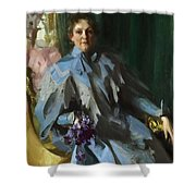 Portrait Of Lilly Eberhard Anheuser Anders Zorn Shower Curtain