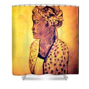 Portrait Of Lovely African Woman Shower Curtain