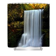 Portrait Of Lower South Falls Shower Curtain