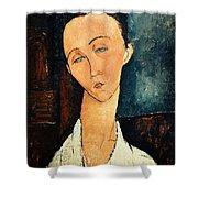 Portrait Of Lunia Czechowska Shower Curtain by Amedeo Modigliani