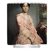 Portrait Of Madame F Shower Curtain by Edouard Louis Dubufe