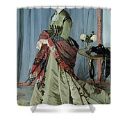 Portrait Of Madame Louis Joachim Gaudibert Shower Curtain