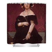 Portrait Of Madame Moitessier Standing Shower Curtain