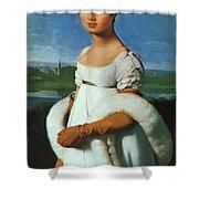 Portrait Of Mademoiselle Riviae 1805 Shower Curtain