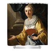 Portrait Of Maria Cavalcanti Ametrano Duchess Of San Donato Shower Curtain