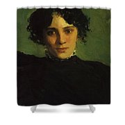 Portrait Of Maria Gabayeva Shower Curtain