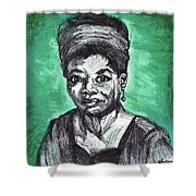 Portrait Of Maya Angelou Shower Curtain