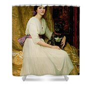 Portrait Of Miss Dorothy Dicksee  Shower Curtain