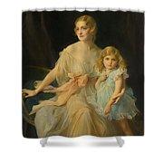 Portrait Of Mrs Claude  Shower Curtain