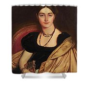 Portrait Of Mrs Devauay Shower Curtain