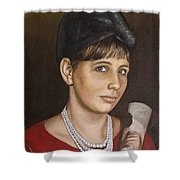 Portrait Of My Mother Early Sixties Shower Curtain