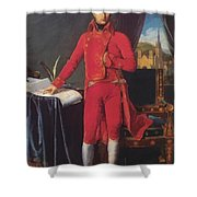 Portrait Of Napolan Bonaparte The First Council 1804 Shower Curtain