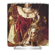 Portrait Of Napolan On The Imperial Throne 1806 Shower Curtain