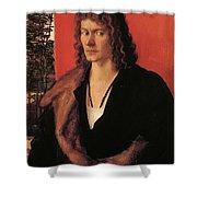 Portrait Of Oswolt Krel 1499 Shower Curtain