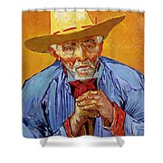 Portrait Of Patience Escalier Shower Curtain