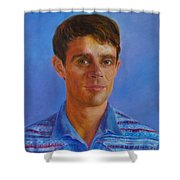 Portrait Of Canadian Operatic Tenor Paul Ouellette  Shower Curtain