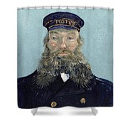 Portrait Of Postman Roulin Shower Curtain by Vincent van Gogh