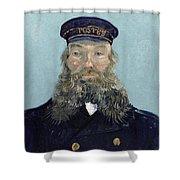 Portrait Of Postman Roulin Shower Curtain