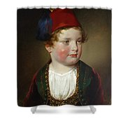 Portrait Of Prince Victor Odescalchi  In Greek Costume At The Age Of Five Shower Curtain