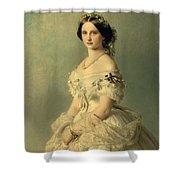 Portrait Of Princess Of Baden Shower Curtain by Franz Xaver Winterhalter