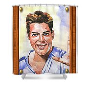 Portrait Of Ricky Martin Shower Curtain