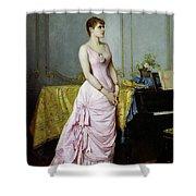 Portrait Of Rose Caron Shower Curtain