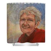 Portrait Of Ruth Sentelle Shower Curtain