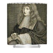 Portrait Of Sir Isaac Newton Shower Curtain