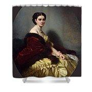 Portrait Of Sophia Petrovna Naryshkina Franz Xavier Winterhalter Shower Curtain
