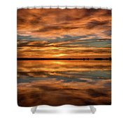 Portrait Of Sunrise Reflections On The Great Plains Shower Curtain
