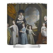 Portrait Of The Children Of William Shower Curtain