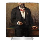 Portrait Of The Commander A Salviati Shower Curtain