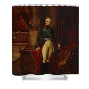 Portrait Of The Emperor Alexander Shower Curtain
