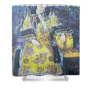 Portrait Of The Empress Dowager Cixi Shower Curtain by Chinese School