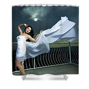 Portrait Of The Girl  Shower Curtain