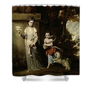 Portrait Of The Ladies Amabel And Mary Jemima Yorke Shower Curtain
