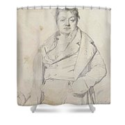 Portrait Of The Painter Charles Thevenin Director Of The Academy Of France In Rome Shower Curtain