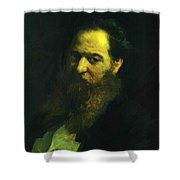 Portrait Of The Physiologist Moriz Schiff Shower Curtain