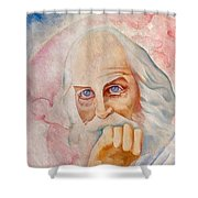 Portrait Of The Us-american Poet Walt Whitman Boris Grigoriev Shower Curtain