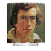 portrait of the young Arnold Bocklin Shower Curtain