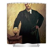 Portrait Of Theodore Roosevelt Shower Curtain by John Singer Sargent
